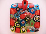 Подвеска муранское стекло Красный Квадрат, фото 2