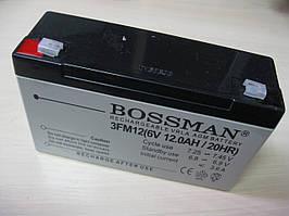Свинцовый аккумулятор Bossman 6V 12Ah