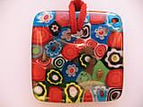 Подвеска муранское стекло Красный Квадрат, фото 3