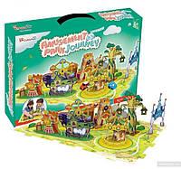 Трехмерная головоломка-конструктор Поездка в парк развлечений CubicFun (K1002h)