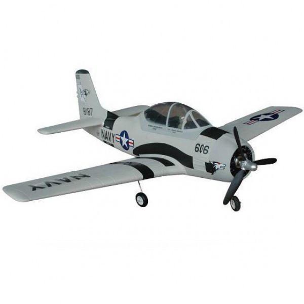 Самолет FMS Mini North American T-28 Trojan RTF 750 мм 3X 2,4 ГГц Grey c 3-х осевым гироскопом (FMS032-3X Grey)