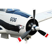 Самолет FMS Mini North American T-28 Trojan RTF 750 мм 3X 2,4 ГГц Grey c 3-х осевым гироскопом (FMS032-3X Grey), фото 2