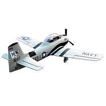 Самолет FMS Mini North American T-28 Trojan RTF 750 мм 3X 2,4 ГГц Grey c 3-х осевым гироскопом (FMS032-3X Grey), фото 3