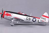 Самолет FMS Mini Republic P-47 Thunderbolt Balls out RTF 750 мм 3X 2,4 ГГц c 3-х осевым гироскопом (FMS027-3X Balls out)