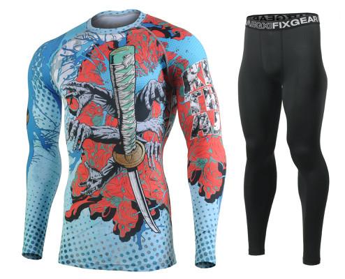 Комплект Рашгард Fixgear и компрессионные штаны CFL-77+FPL-BB