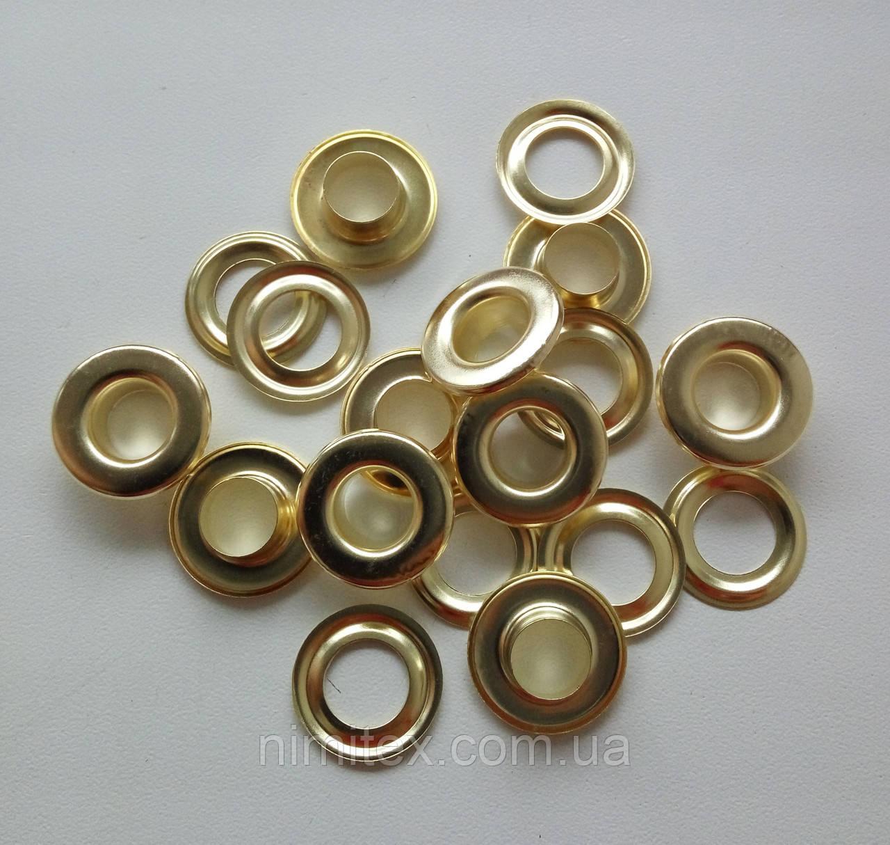 Люверс №24 - 9 мм (с шайбой) золото