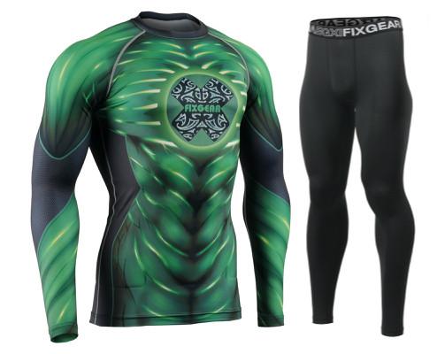 Комплект Рашгард Fixgear и компрессионные штаны CFL-92+FPL-BB