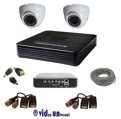 Комплект видеонаблюдения 2 камеры внутренние