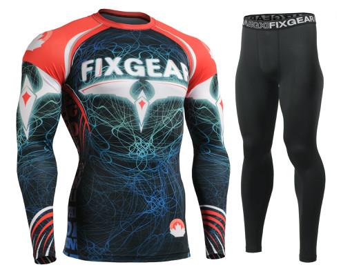 Комплект Рашгард Fixgear и компрессионные штаны CFL-35+FPL-BS