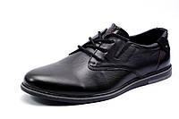 Туфли спортивные мужские CHECO, натуральная кожа, черные,р. 45