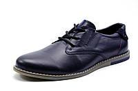 Туфли спортивные мужские CHEZCO, натуральная кожа, синие, р. 40 41 43 44 45