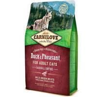 Сухой корм Carnilove Cat Hairball Controll Duck & Pheasant для кошек. Беззерновой 6 кг.