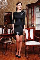 Стильное черное платье Полли Glem 42 размер