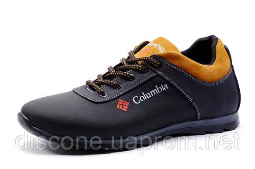 Новинка Туфли Columbia, спортивные мужские, натуральная кожа, черные с  оранжевым, р. ( bdd1a9e4c79