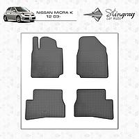 Коврики резиновые в салон Nissan Micra K12 c 2003 (4шт) Stingray