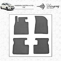 Коврики резиновые в салон Nissan Micra K13 c 2013 (4шт) Stingray