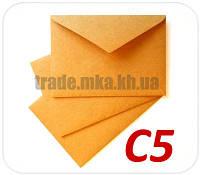 Крафт конверт С5 120 г/м2 текстурная полоска