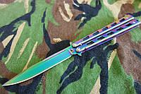 Балисонг Хамелеон сталь 440с  ,металлическая рукоять