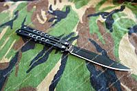 Нож Балисонг металлическая рукоять 228мм,сталь 440с