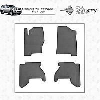 Коврики резиновые в салон Nissan Pathfinder R51 c 2005 (4шт) Stingray