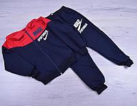 """Спортивный костюм детский """" Nike реплика"""". 1-5 лет.Темно-синий+красный. Оптом, фото 1"""