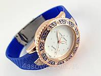 Часы женские - Ulysse Nardin - Star на каучуковом ремешке, синие с кристаллами
