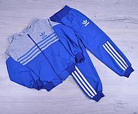 """Спортивный костюм детский """"Adidas """". 1-5 лет.  Электрик+серый. Оптом"""