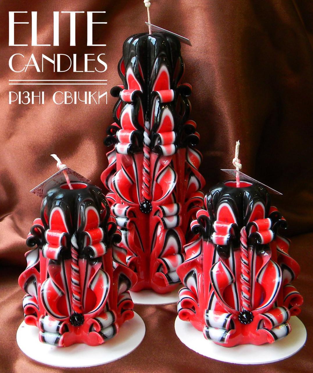 Набор резных свечей, подарок ручной работы, красиво горят и выглядят