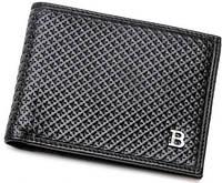 Красивое мужское кожаное портмоне BALLY BLH-015, черный