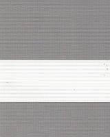 Тканевые ролеты День-ночь. 50*280 см. Стандарт Зебра ІІ 1084 Серебро