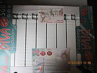 Радиатор отопления в частный дом и в квартируDIVA 500/96 биметаллический
