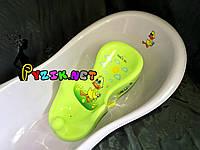 Горка для купания ребенка нескользящая на присосках (Польша) Салатовая