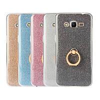 "Samsung G532 J2 Prime противоударный TPU защита 360* чехол панель накладка бампер с блестками ""SHINE STAR"""