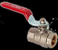 """Шаровый кран для воды 1""""ВВ красная ручка RS-К Италия, фото 1"""