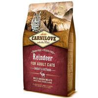 Сухой корм Carnilove Cat Raindeer Energy & Outdoor для кошек. Беззерновой 2 кг.