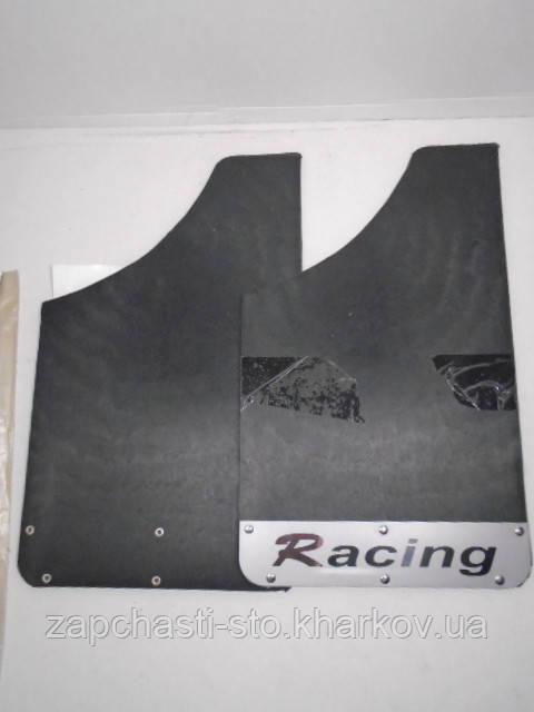 Брызговики универсальные Racing с пластиной метал. (2шт)