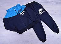 """Спортивный костюм детский """"Nike реплика"""". 1-5 лет. Темно-синий+голубой. Оптом, фото 1"""