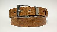 Кожаный женский ремень 35 мм рыжий