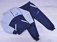 """Спортивный костюм детский """"Puma"""". 1-5 лет. Темно-синий+серый. Оптом"""