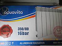 Радиатор отопления в частный дом и в квартиру Aquavita 350/80 алюминиевый