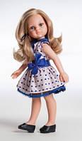 Кукла Paola Reina  Карла в платье с синим бантом  32 см без коробки (34506)
