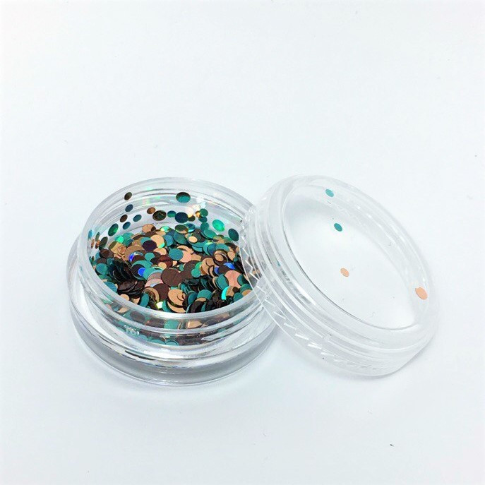 Конфетти для дизайна ногтей в баночке, KF-09