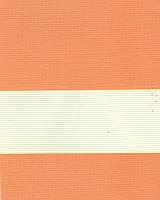 Тканевые ролеты День-ночь. 50*280 см. Стандарт Зебра ІІ 1090 Оранжевый