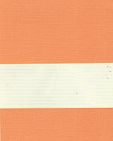 Тканевые ролеты День-ночь. 50*170 см. Стандарт Зебра ІІ 1090 Оранжевый делаем любой размер