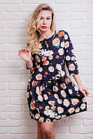 Оригинальное женское платье из дайвинга в расцветках