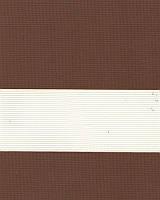 Тканевые ролеты День-ночь. 50*170 см. Стандарт Зебра ІІ 1091 Коричневый делаем любой размер