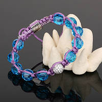 Обворожительный браслет Шамабала, с необыкновенными камнями из горного хрусталя (80086)