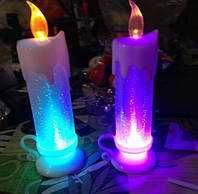 Свеча декоративная в комплекте с батарейками.