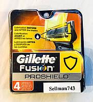 Gillette Fusion Proshield лезвия из США x4