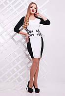 Женское черно-белое платье прилегающего силуэта Лоуна Glem 44-48 размеры